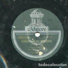 Discos de pizarra: JOSE CEPERO / FANDANGO DE CEPERO / SEGUIDILLAS DEL MORRURRO (ODEON 181004). Lote 205085402