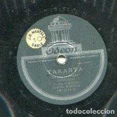 Discos de pizarra: ANGELILLO / TARANTA DE LOS LAURELES / EL CLAVEL Y LA ROSA (ODEON 181.011). Lote 205085672