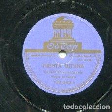 Discos de pizarra: CANALEJAS / FIESTA GITANA / FANGOS (ODEON 183.823). Lote 205087585