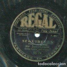Discos de pizarra: JOSE CEPERO / QUE POR MI PUERTA PASO / SEGUIRILLAS (REGAL RS 714). Lote 205087666