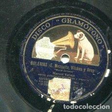 Discos de pizarra: MANUEL VALLEJO / NADIE EN EL MUNDO HA QUERIDO / MARIA DOLORES (GRAMOFONO GY 106). Lote 205087741