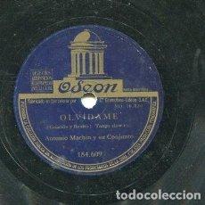Discos de pizarra: ANTONIO MACHIN / ANGELITOS NEGROS / OLVIDAME (ODEON 184.609). Lote 205088808
