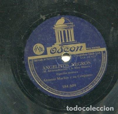 Discos de pizarra: ANTONIO MACHIN / ANGELITOS NEGROS / OLVIDAME (ODEON 184.609) - Foto 2 - 205088808
