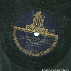 Discos de pizarra: LORENZO GONZALEZ / NUNCA JAMAS / LA NIÑA DE PUERTO RICO (ODEON 185.122). Lote 205093906