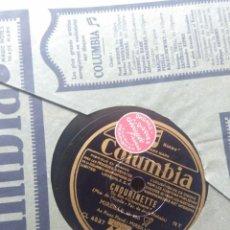 Discos de pizarra: DISCO DE PIZARRA : MIREILLE : CHOURINETTE + CE PETIT CHEMIN. Lote 205116827