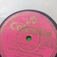 Dischi in gommalacca: DISCO DE PIZARRA : GRAN ORQUESTA COLUMBIA : NOCHES DE ANDORRA + LA POLKA DE LOS COHETES. Lote 205118468