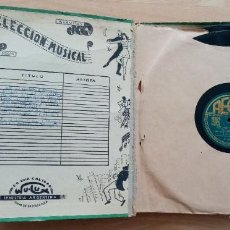 Discos de pizarra: DISCOS DE PIZARRA - ÁLBUM AÑOS 30/40. Lote 205157677