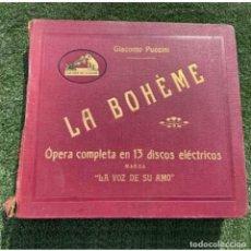 Discos de pizarra: LA BOHÈME. ALBUM DE 13 DISCOS ELÉCTRICOS. Lote 205159906