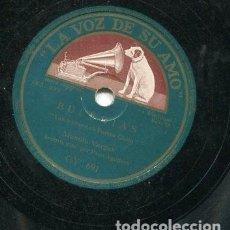 Discos de pizarra: MANOLO VARGAS / TU EN UNA PIEDRA Y YO EN OTRA / VAN A PONER EN PUERTO CHICO (LA VOZ DE SU AMO GY 691. Lote 205232688