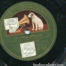 Discos de pizarra: MANUEL CENTENO Y PENA HIJO / FANDANGOS DEL DESAFIO / DESPEDIDA DE LA MADRE (GRAMOFONO AE 2529). Lote 205233657