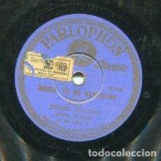 Discos de pizarra: MANUEL CENTENO / CAMI8NITO DEL CALVARIO / MARIA, TU NO NECESITAS (PARLOPHONB.25.464). Lote 205234330
