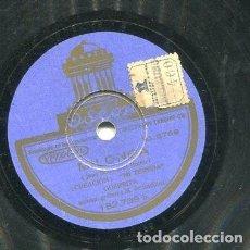 Discos de pizarra: GUERRITA / MILONGA / ESTABAN JUNTOS LOS DO (ODEON 182.739). Lote 205234822