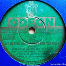 Discos de pizarra: DISCO PIZARRA. LOUIS ARMSTRONG & HIS HOT FIVE. BIG BUTTER EGG MAN FROM THE WEST./ SUNSET CAFE STOMP. Lote 205250710