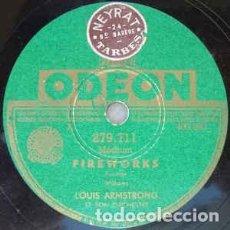 Discos de pizarra: DISCO PIZARRA. LOUIS ARMSTRONG ET SON ORCHESTRE. FIREWORKS / SAINT JAMES INFORMARY .. Lote 205262630