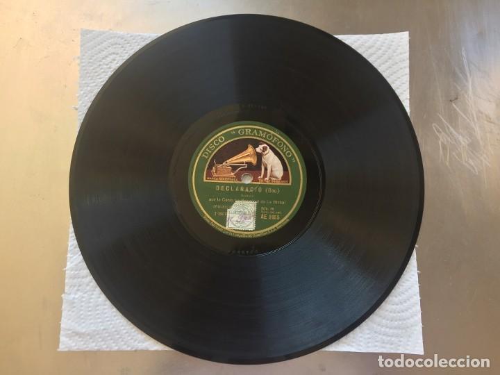 DISCO PIZARRA DECLARACIO (BOU) Y CAMI DE L´ESGLESIA (LUIS M. SOLÉ) (Música - Discos - Pizarra - Flamenco, Canción española y Cuplé)