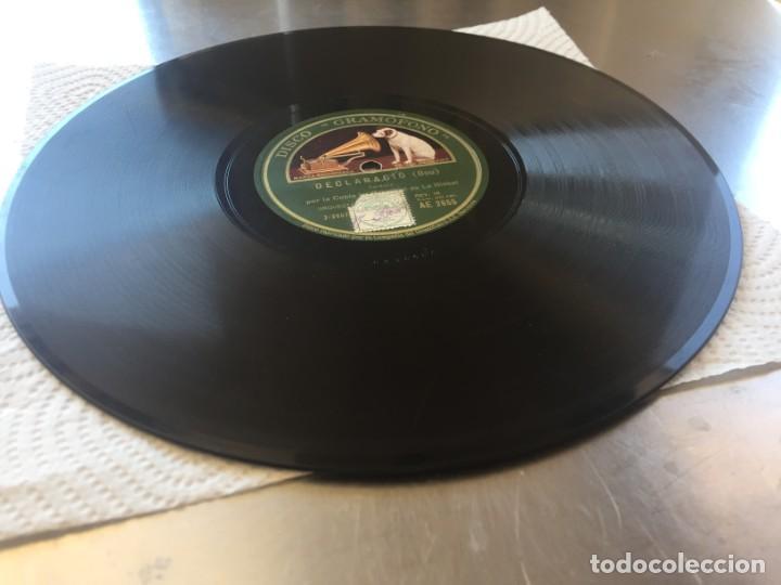 Discos de pizarra: DISCO PIZARRA DECLARACIO (BOU) Y CAMI DE L´ESGLESIA (LUIS M. SOLÉ) - Foto 2 - 205276172