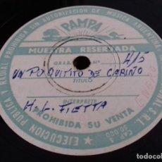 Discos de pizarra: HORACIO LAGNA FIETTA- MUESTRA RESERVADA-UN POQUITO DE CARIÑO/ VENGANZA- PAMPA- 415/416. Lote 205289620