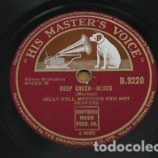 Discos de pizarra: DISCO PIZARRA. JELLY ROLL MORTON´S RED HOT PEPPERS . DEEP CREK BLUES / SHREVEPORT STOMP .. Lote 205300735