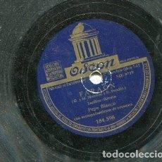 Dischi in gommalacca: PEPE BLANCO / FARAON / EL EMBRUJO DE GRANADA (ODEON 184.598). Lote 205346488