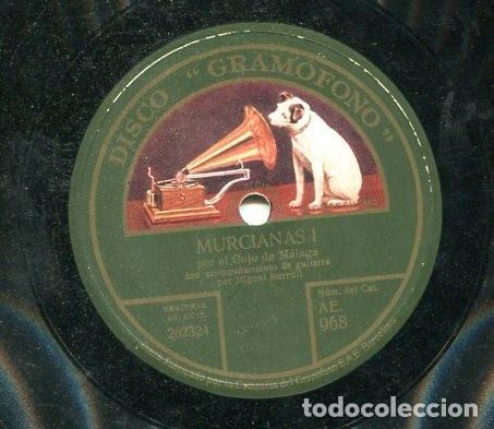 Discos de pizarra: COJO DE HUELVA / VERDIALES / MURCIANAS I (GRAMOFONO AE 968) - Foto 2 - 205347337