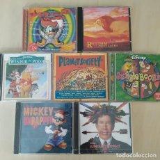 Discos de pizarra: LOTE 7 CDS BANDAS SONORAS WALT DISNEY, EXCELENTE ESTADO, RAREZAS. Lote 205372648