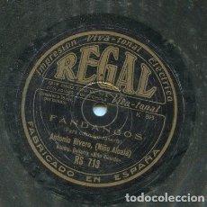 Dischi in gommalacca: ANTONIO RIVERA (NIÑO ALCALA) / YO MIS PENAS LE CONTE / PARA CONMIGO CASATE (REGAL RS 713). Lote 205570798