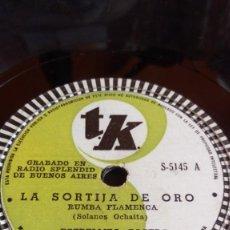 Discos de pizarra: ESTRELLITA CASTRO- LA SORTIJA DE ORO/LA NIÑA DE LA CALETA. Lote 205589655