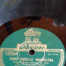 Discos de pizarra: ANGELILLO- COMO AQUELLA MAGADALENA / RADIO CUBA. Lote 205594021