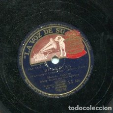 Discos de pizarra: MANOLO CARACOL / BULERIAS / ENTRE DOS CARIÑOS (LA VOZ DE SU AMO AA 326). Lote 205646592