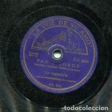 Discos de pizarra: LA ARGENTINITA / PAN Y TOROS / TANGO DE CADIZ (LA VOZ DE SU AMO DA 4235). Lote 205648157