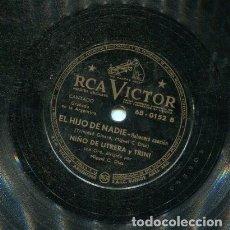 Dischi in gommalacca: NIÑO DE UTRERA / FIESTA BRAVA / EL HJO DE NADIE (RCA VICTOR 68-0152). Lote 205648425