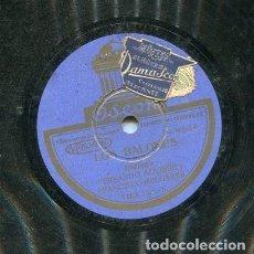 Discos de pizarra: FERNANDO AGUIRRE Y FRANCISCO MELGARES / LOS BALONES ( UNA ARTISTA DE FUERZA) ODEON 183.121). Lote 205648827