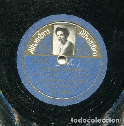 LOS GALINDOS CON LUISA LINARES / A LO LOCO, A LO LOCO / LINARES MINERO (ALHAMBRA AL 20062) (Música - Discos - Pizarra - Solistas Melódicos y Bailables)
