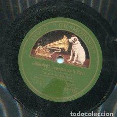 Discos de pizarra: CORRUCO DE ALGECIRAS / A UNA POBRE PORDIOSERA / QUE LLEVA MI MISMA SANGRE (GRAMOFONO AE 3654). Lote 205758308