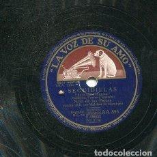 Discos de pizarra: NIÑA DE LOS PEINES / SE TE LOGRE EL GUSTO / DE MI MORENO EL CARIÑO (LA VOZ DE SU AMO AA355). Lote 205763197
