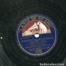 Discos de pizarra: NIÑA DE LOS PEINES / COMPAÑERA DE MI ALMA / QUIEN SERA ESTE SOLDADITO (LA VOZ DE SU AMO AA 348). Lote 205763528