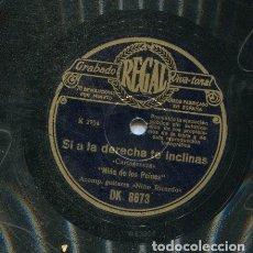 Discos de pizarra: NIÑA DE LOS PEINES / SI A LA DERECHA TE INCLINAS / IMPLORANDO UNA LIMOSNA (REGAL DK 8673). Lote 205764152