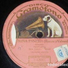 Discos de pizarra: DISCO 78 RPM - GRAMOFONO - LUCRECIA BORI - SOPRANO - NIÑA PANCHA - HABANERA - OPERA - PIZARRA. Lote 206170821