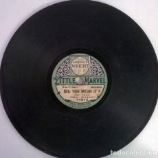 Discos de pizarra: LAWRENCE WRIGHT. DID YOU MEAN IT/ MARCH RUSSE. LITTLE MARVEL, UK PIZARRA 6'' 78 RPM. Lote 206185265
