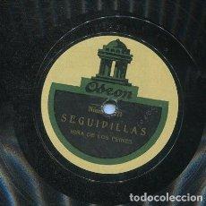 Discos de pizarra: NIÑA DE LOS PEINES / TIENTOS Nº 1 / SEGUUIDILLAS (ODEON 13.270). Lote 206251935
