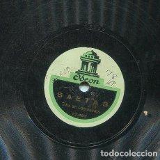 Discos de pizarra: NIÑA DE LOS PEINES / SEVILLANAS BOLERAS / SAETAS (ODEON 13.287). Lote 206252261