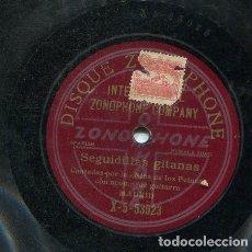 Discos de pizarra: NIÑA DE LOS PEINES / SEVILLANAS Nº 3 / SEGUIDILLAS GITANAS (GRAMOPHONE X-5-53023). Lote 206252838