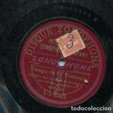 Discos de pizarra: NIÑA DE LOS PEINES / TANGO DE LA TONTONA / PETENERAS Nº 1 (ZONOPHONE X-5 53019). Lote 206253342