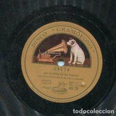 Discos de pizarra: NIÑA DE LOS PEINES / BULERIA Nº 1 / SAETA (GRAMOGONO AG 79). Lote 206253943