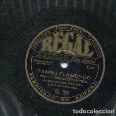 Discos de pizarra: NIÑA DE LOS PEINES / SEGUIRIYAS / TANGO FLAMENCO (REGAL RS 586). Lote 206255047
