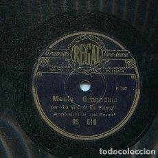 Discos de pizarra: NIÑA DE LOS PEINES / MEDIA GRANADINA / BULERIA (REGAL RS 610). Lote 206255147