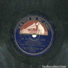 Discos de pizarra: NIÑA DE LOS PEINES / DE SEVILLA A CADIZ / FIESTA DE NAVIDAD (LA VOZ DE SU AMO AA 357). Lote 206257008