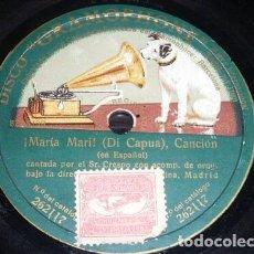 Discos de pizarra: DISCO 78 RPM - GRAMOPHONE - CRESPO - BARITONO - MARIA MARI - DI CAPUA - OPERA - ORQUESTA - PIZARRA. Lote 206266421
