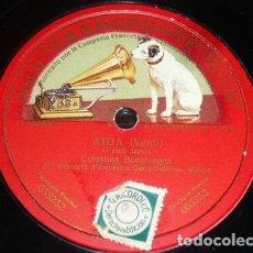 Discos de pizarra: DISCO 78 RPM - GRAMOPHONE - CELESTINA BONINSEGNA - SOPRANO - AIDA - VERDI - OPERA - PIZARRA. Lote 206279192