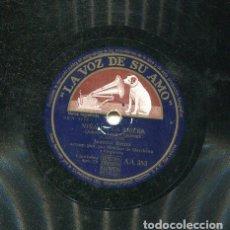 Discos de pizarra: JUANITA REINA / LA GRACIA / NIÑA DE LA RIBERA (LA VOZ DE SU AMO AA 353). Lote 206307188